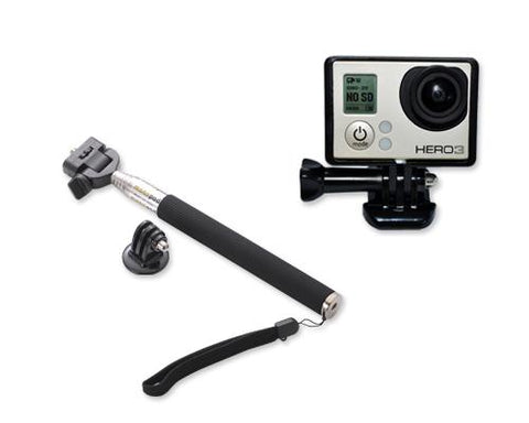 GoPro Telescopic Extension Pole Standard Frame Mount for Hero 3 Camera