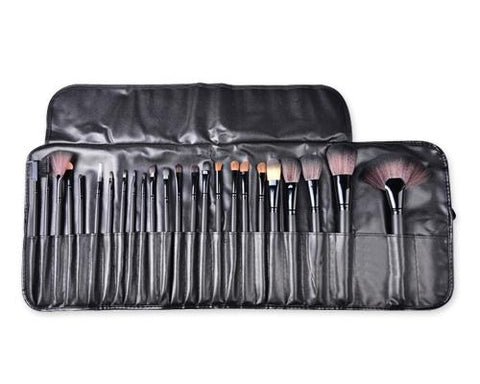 24 Pcs Professional Makeup Brush Set - Black