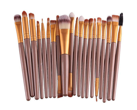 20 Pcs Professional Makeup Brush Set - Gold
