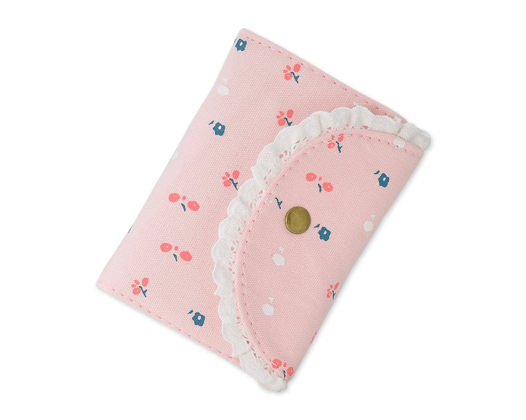 Floral Card Holder Photo Album for Fujifilm Instax Mini Films - Pink