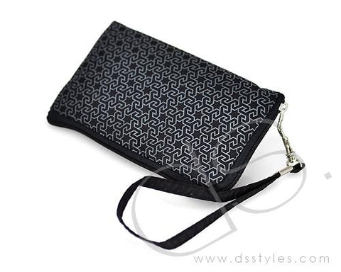 Zipper Series Leather Pouch iPhone 5 Case - Black Star