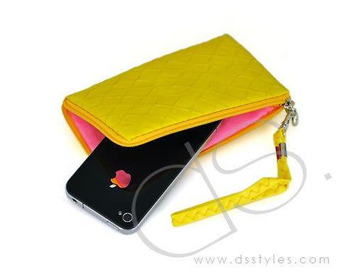 Zipper Series Leather Pouch iPhone 5 and 5S Case - Yellow