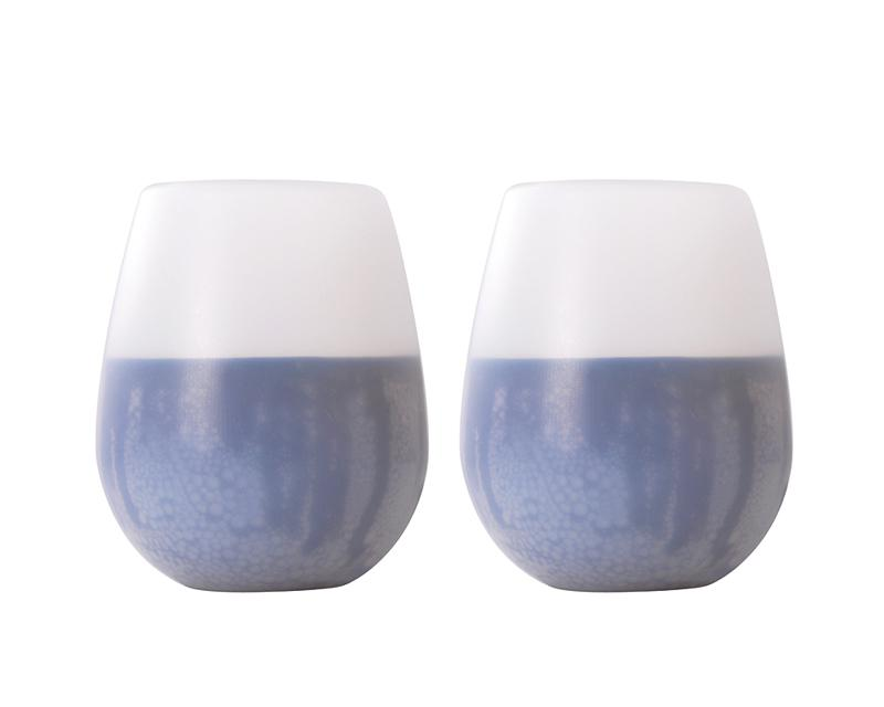 350 ml Unbreakable Stemless Wine Glasses - Set of 2