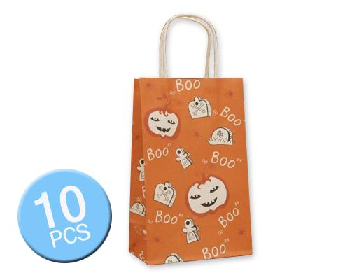 10 Pcs Halloween 2016 Party Favor Paper Gift Bags - Ghost and Tombs
