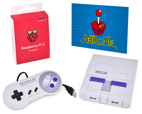 Retroflag Video Game Console with Wired Controller for Raspberry Pi 3B+ Set