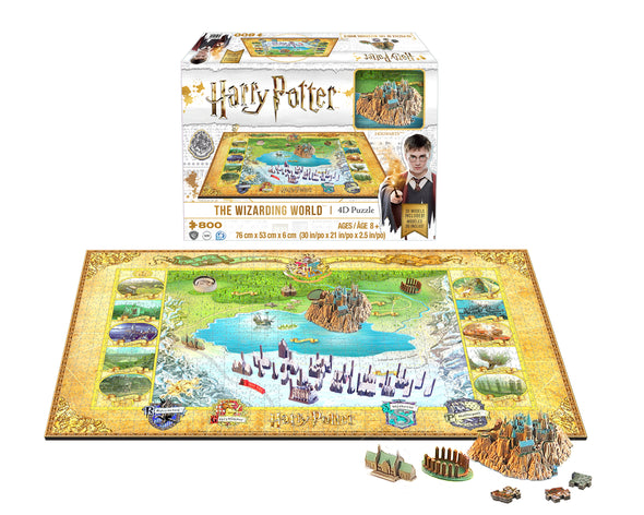 Harry Potter Harry Potter Wizarding World Hogwarts & Hogsmead 4D Puzzle - Accio This