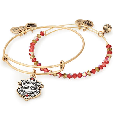Harry Potter ALEX AND ANI HARRY POTTER GRYFFINDOR Motto Set of 2 - Accio This
