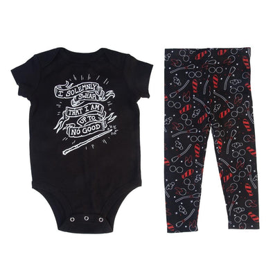 Harry Potter I Solemnly Swear I Am Up to No Good Baby Onesie and Legging Set - Accio This
