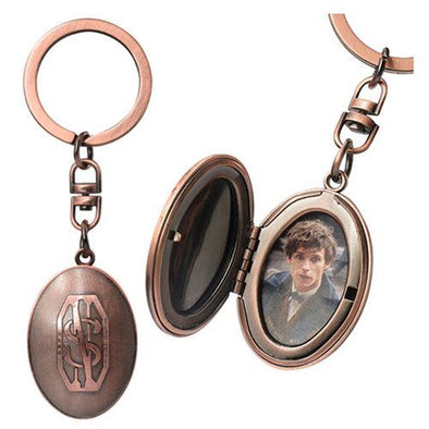 Harry Potter Newt Scamander Picture Locket Pewter Key Chain - Accio This