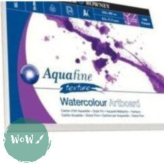 Daler Rowney Aquafine Watercolour Artboard Pad, NOT Surface 1.4mm thick- A4 & A3