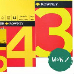 Daler Rowney RED & YELLOW Cartridge white paper pads 150gsm, Spiral & Square Bound