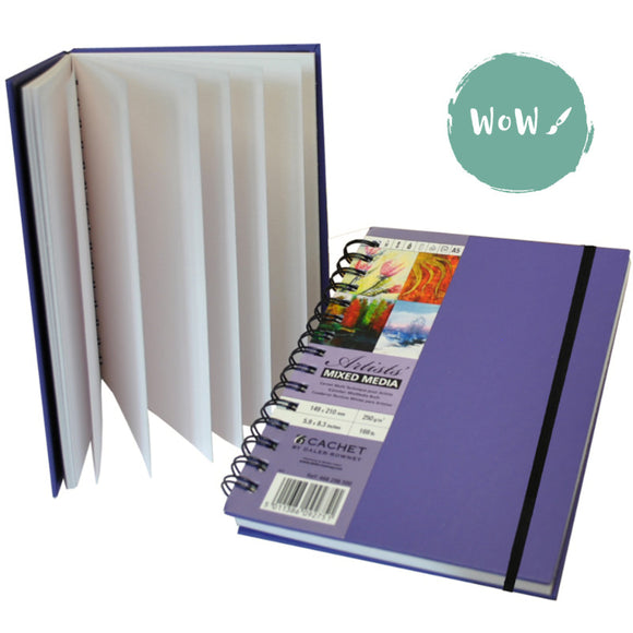 Daler-Rowney Cachet Mixed Media Sketchbook, Amethyst cover- range of sizes