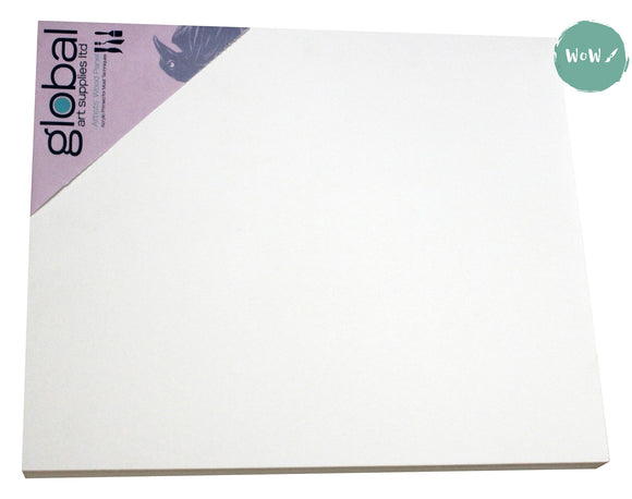 Painting Panel- Natural Wood, 18mm thick WHITE GESSO PRIMED (Pink label)- up to 25% off Marked Price