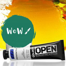 Golden OPEN Slow Drying Acrylics 59ml tubes- up to 25% off