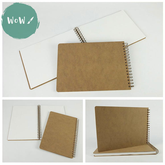 Hardback Spiral Bound Sketch book, Drawing Board Cover, 160gsm White all-media paper