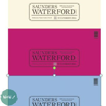 Saunders Waterford FAT Pads- 140lb NOT & HP, ROUGH Surfaces