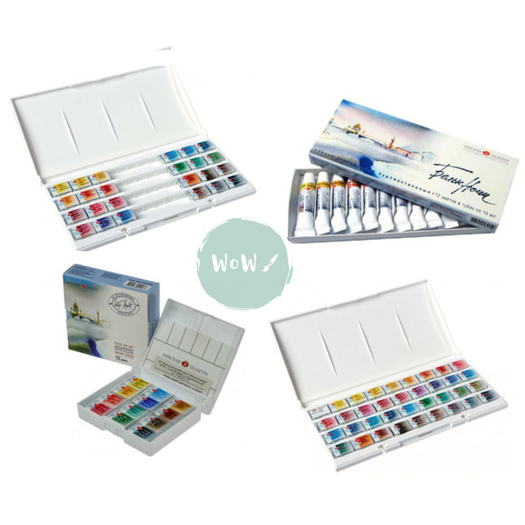White Nights, St Petersburg Watercolours- Individual Pans, Sets & Pencils