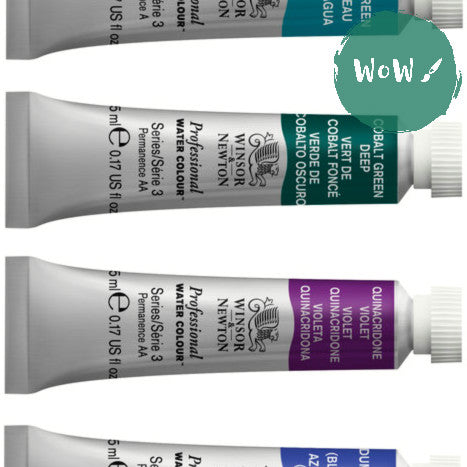 Winsor & Newton Professional (Artists) Water Colour 5ml Tubes- up to 25% off