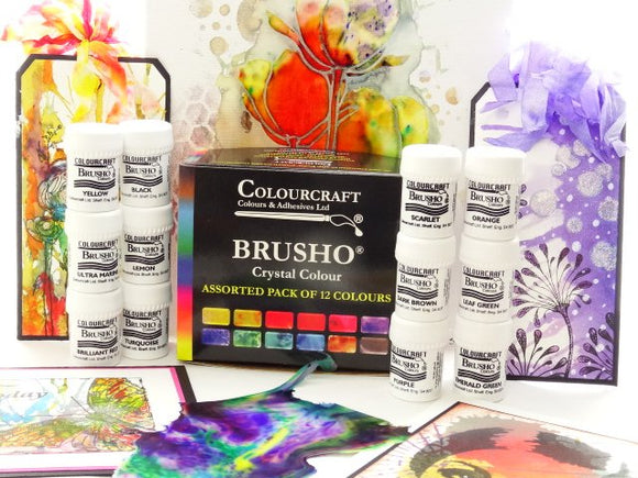 Brusho Watercolour Crystals Sets- Free Gift with selected sets