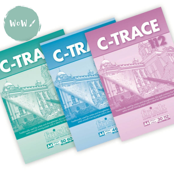Tracing Paper Pads- Frisk C Trace - 60, 90 & 112gsm Various sizes