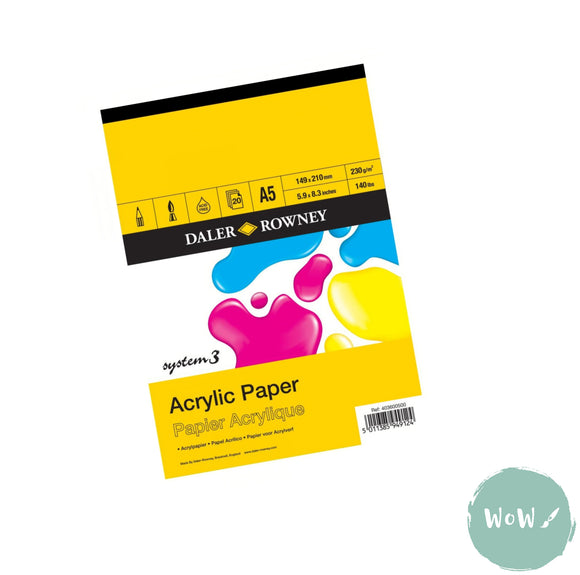 Daler Rowney System 3 Acrylic Paper Pad- A5