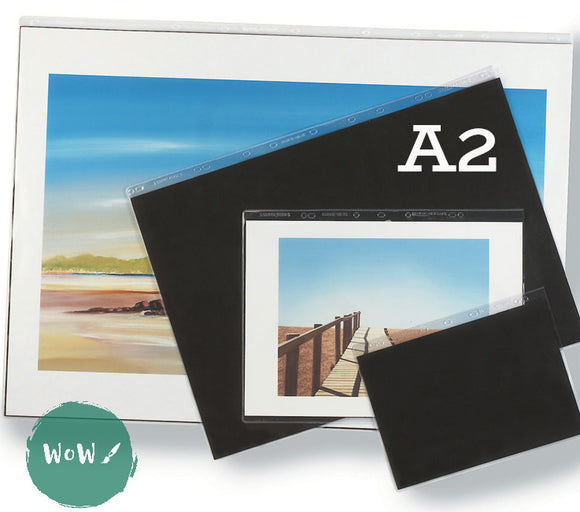 Presentation Portfolio with rings- Heavy Gauge Display Sleeves- Singles A2