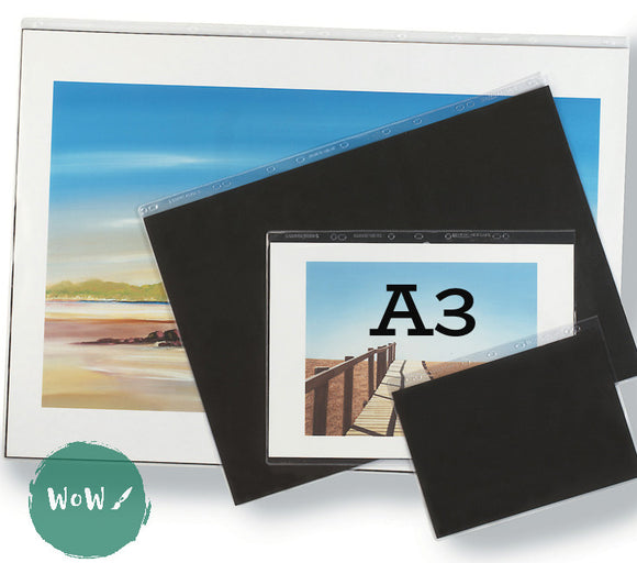 Presentation Portfolio with rings- Heavy Gauge Display Sleeves- Singles A3