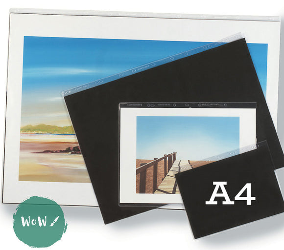 Presentation Portfolio with rings- Heavy Gauge Display Sleeves- Singles A4