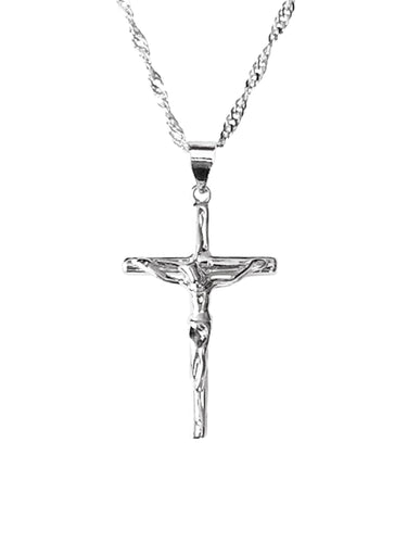 Crucifix Necklace, It is also ideal as a First Communion gift, confirmation, christening, baptism and gift for Christmas
