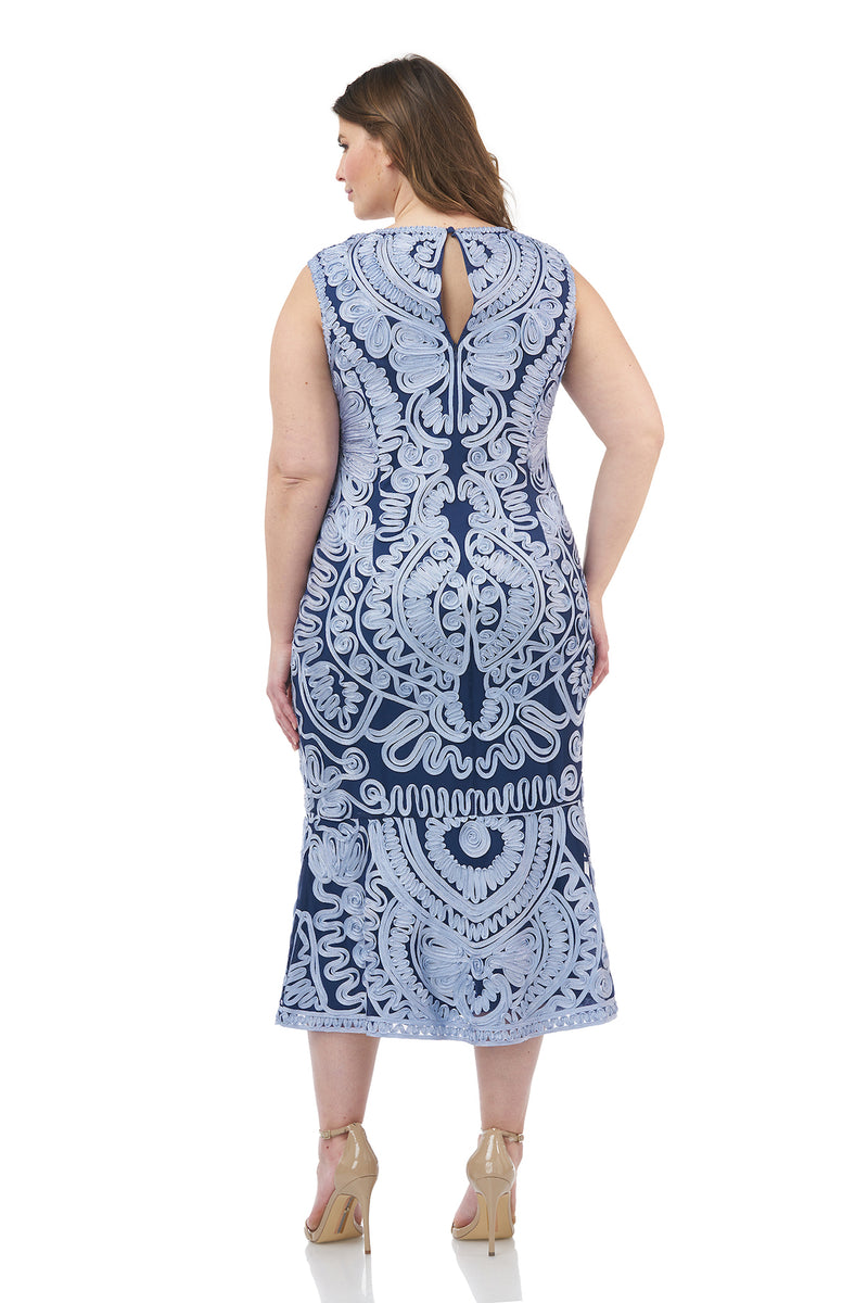Soutache Embroidered Dress
