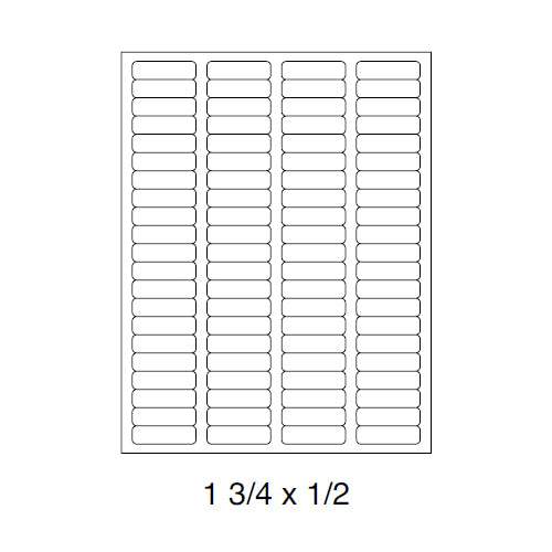 "Sheet Labels 1.75"" x 0.50"""