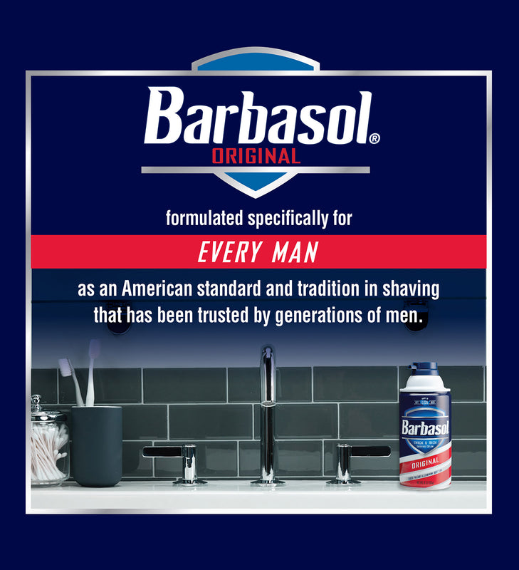 Barbasol Original Thick & Rich Shaving Cream, 10 Ounces Pack of 6)