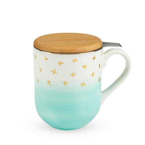 Casey Green Ceramic Tea Mug & Infuser