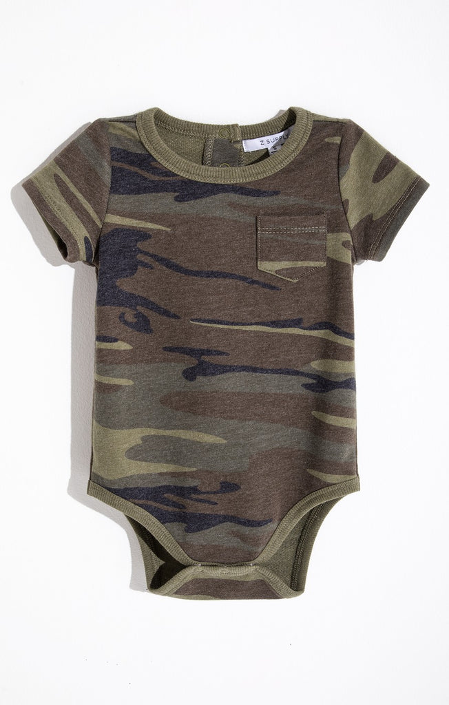 The Pocket Onesie in Green Camo