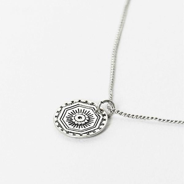 Designb Vintage Coin Necklace In Sterling Silver