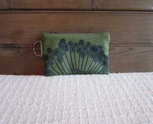 W-ZW-Fern Fabric , Navy Urchin- $12.50