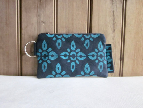 W-ZW-Navy Fabric, Aqua 4point- $12.50