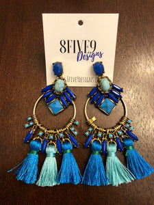 MULTI LAYER TASSEL EARRINGS