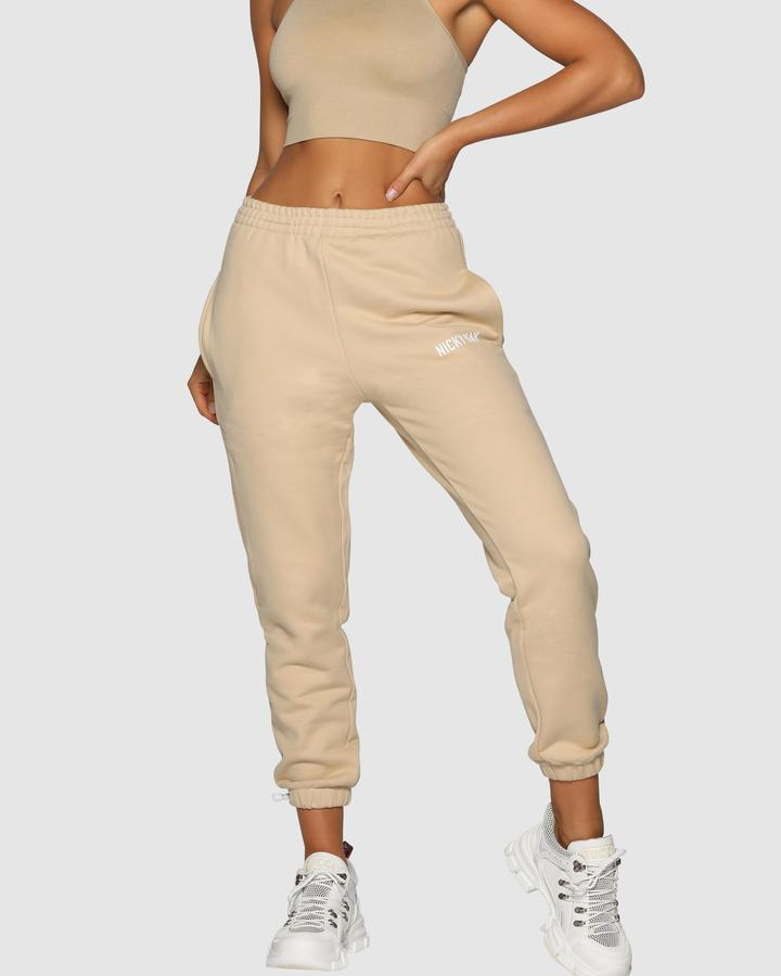 Nicky Kay High Rise Pants - Cream
