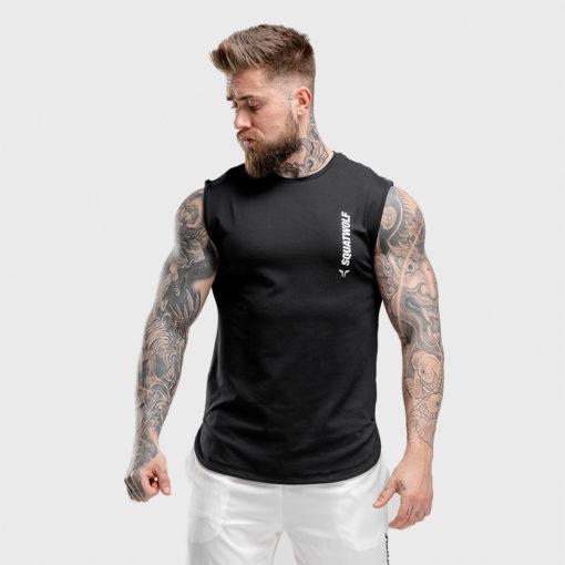 Squat Warrior Cut Off Tank - Black