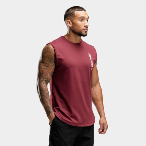 Squat Warrior Cut Off Tank - Maroon