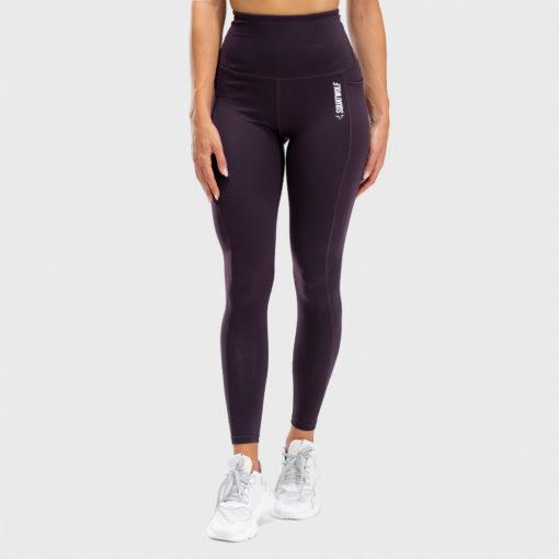 Squat Wolf We Rise High Waisted Full Length Leggings - Beetroot