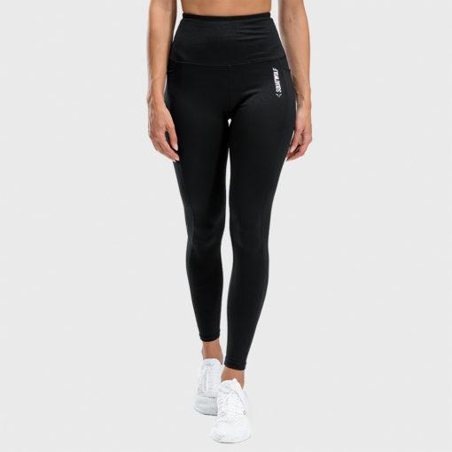 Squat Wolf We Rise High Waisted Full Length Leggings - Black