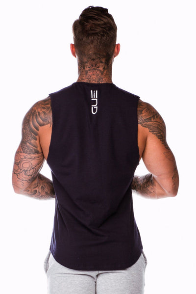 Three End Orthodox Muscle Tank - Navy