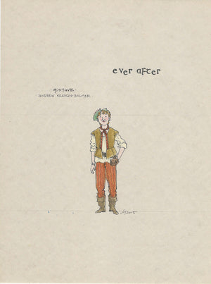 EVER AFTER - Andrew Keenan Bolger as 'Gustave' Original sketch by Jess Goldstein