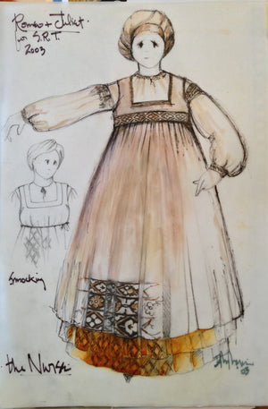 """Romeo And Juliet"" Nurse Costume Sketch By David Murin"