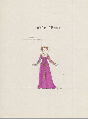 EVER AFTER -  Christine Ebersole as 'Rodmilla' Original Sketch  by Jess Goldstein