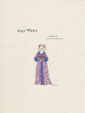 EVER AFTER- Christine Ebersole as 'Rodmilla' Original sketch by Jess Goldstein