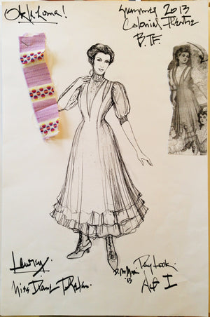 """Oklahoma"" Laurie Costume Design By David Murin"