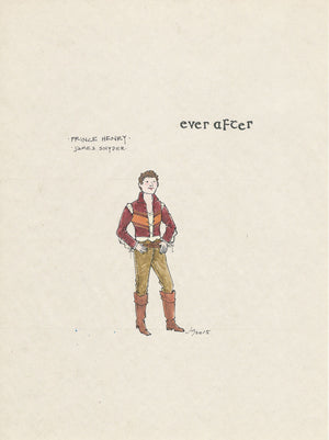 EVER AFTER -  'Prince Henry'  Original Costume sketch by Jess Goldstein